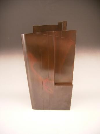 JAPANESE BRONZE VASE BY HASUDA SHUGORO MADE IN 1987, THE YEAR HE WAS GIVEN CULTURAL MERIT AWARD<br><font color=red><b>SOLD</b></font>