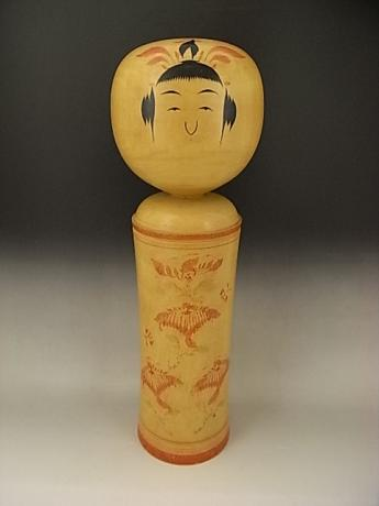 JAPANESE MID 20TH CENTURY EXTRA LARGE ARTIST SIGNED KOKESHI DOLL<br><font color=red><b>SOLD</b></font>