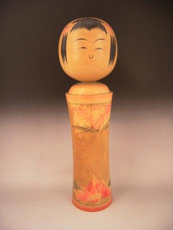 JAPANESE 20TH CENTURY LARGE ARTIST SIGNED KOKESHI DOLL<br><font color=red><b>SOLD</b></font>