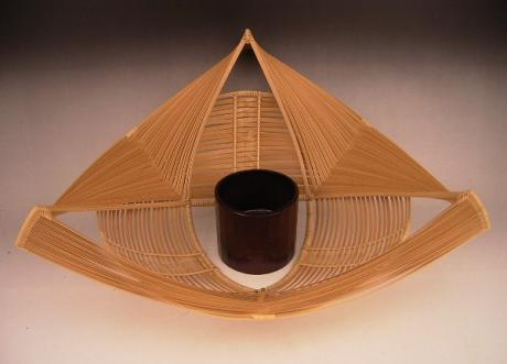 JAPANESE 20TH CENTURY BAMBOO BASKET BY KOUCHIKUSAI <br><font color=red><b>SOLD</b></font>