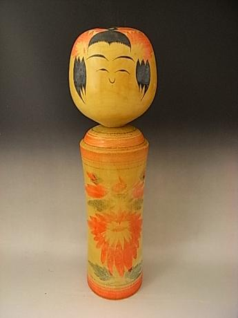 JAPANESE MID 20TH CENTURY MEDIUM LARGE KOKESHI DOLL<br><font color=red><b>SOLD</b></font>