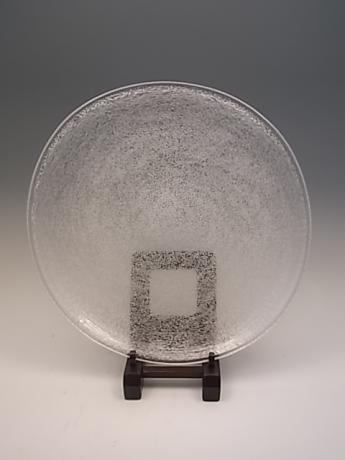 JAPANESE EARLY TO MID 20TH CENTURY HAND BLOWN GLASS PLATE<br><font color=red><b>SOLD</b></font>