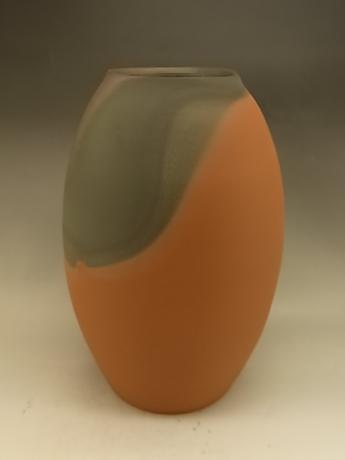 JAPANESE LATE 20TH CENTURY MUMYOI-YAKI VASE BY LNT ARTIST ITO SEKISUI<br><font color=red><b>SOLD</b></font>