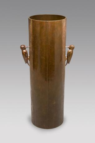 JAPANESE  MID 20TH CENTURY BRONZE VASE BY KIMURA SHOTARO<br><font color=red><b>SOLD</b></font>