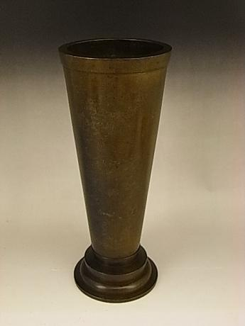 JAPANESE EARLY TO MID 20TH CENTURY BRONZE VASE BY LNT KATORI MASAHIKO