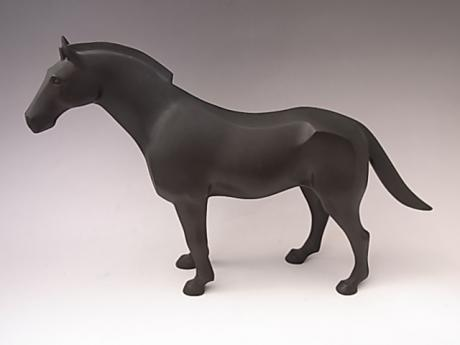 JAPANESE EARLY 20TH CENTURY BRONZE HORSE BY KABUKI SHUMEI<br><font color=red><b>SOLD</b></font>