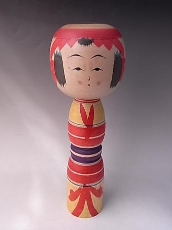 JAPANESE MID 20TH CENTURY MEDIUM LARGE WOODEN KOKESHI