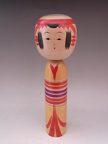 JAPANESE 20TH CENTURY MEDIUM LARGE WOODEN KOKESHI<br><font color=red><b>SOLD</b></font>