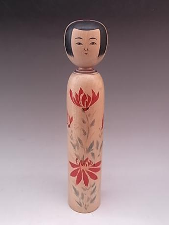 JAPANESE L. 20TH CENTURY LARGE WOODEN KOKESHI<br><font color=red><b>SOLD</b></font>
