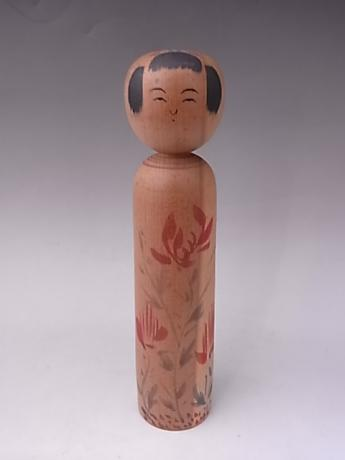 JAPANESE 20TH CENTURY MEDIUM WOODEN KOKESHI<br><font color=red><b>SOLD</b></font>