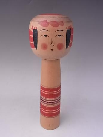 JAPANESE MID 20TH CENTURY MEDIUM WOODEN KOKESHI<br><font color=red><b>SOLD</b></font>