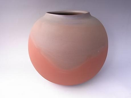 JAPANESE LATE 20TH CENTURY MUMYOI WARE VASE BY LNT ITO SEKISUI