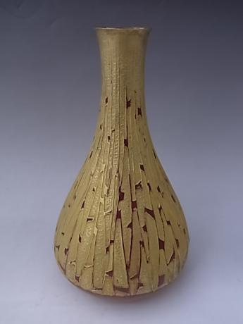 JAPANESE 20TH CENTURY HAND HAMMERED VASE BY SUZUKI JIHE<br><font color=red><b>SOLD</b></font>I