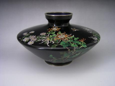 JAPANESE EARLY 20TH CENTURY CLOISONNE VASE BY HAYASHI<br><font color=red><b>SOLD</b></font>