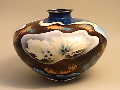 JAPANESE MID 20TH CENTURY CLOISONNE VASE BY SHOBIDO<br><font color=red><b>SOLD</b></font>