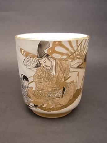 JAPANESE EARLY 20TH CENTURY BANKO WARE TEA CUP<br><font color=red><b>SOLD</b></font>