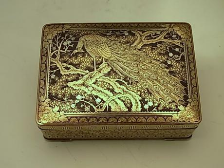 JAPANESE EARLY 20TH CENTURY KOMAI STYLE INLAID IRON BOX<br><font color=red><b>SOLD</b></font>