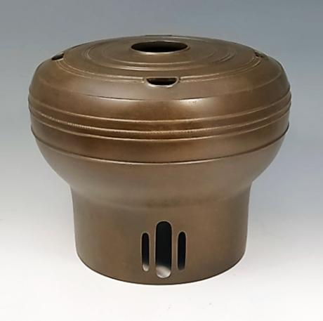 JAPANESE MID 20TH CENTURY BRONZE VASE BY HORI JOSHIN
