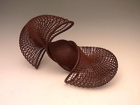 JAPANESE 21ST CENTURY BAMBOO BASKET BY HONDA SYORYU<br><font color=red><b>SOLD</b></font>