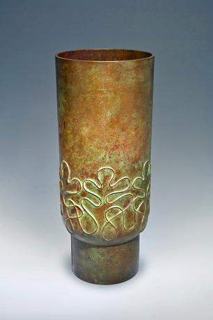 JAPANESE 20TH C. LG BRONZE VASE BY TSUDA JOYO