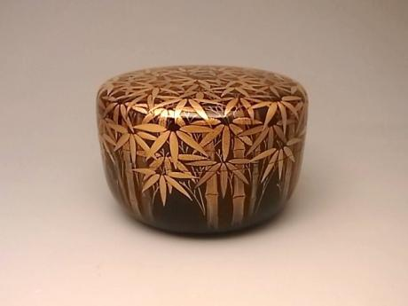 JAPANESE LACQUER TEA CADDY<br><font color=red><b>SOLD</b></font>
