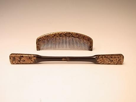 JAPANESE MEIJI PERIOD COMB SET BY HOUSAI<br><font color=red><b>SOLD</b></font>