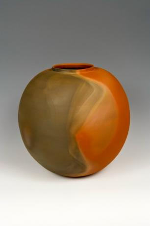 JAPANESE LATE 20TH - EARLY 21ST CENTURY LARGE MUMYO-WARE CERAMIC VASE BY ITO SEKISUI