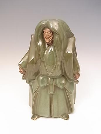 JAPANESE 20TH CENTURY PORCELAIN FIGURE OF ISHIBASHI CHARACTER FROM NOH PLAY<br><font color=red><b>SOLD</b></font>