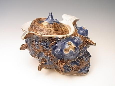 JAPANESE 19TH CENTURY HIRADO TURBAN TOP SHELL BOX<br><font color=red><b>SOLD</b></font>