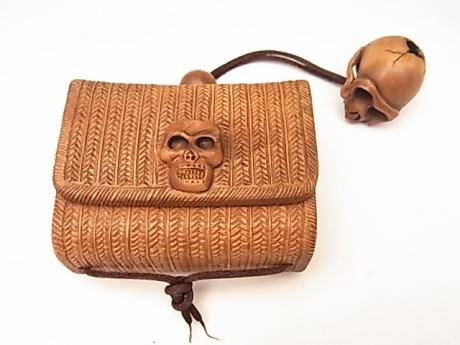 JAPANESE 20TH CENTURY TOBACCO POUCH<br><font color=red><b>SOLD</b></font>
