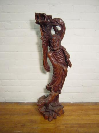 MID 20TH CENTURY WOODEN CARVING<br><font color=red><b>SOLD</b></font>