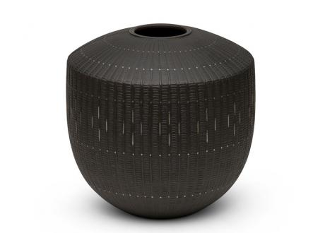 JAPANESE 20TH-21ST CENTURY BRONZE VASE BY LNT OZAWA KOMIN