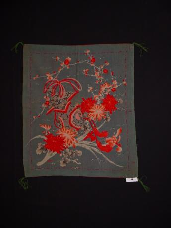 MEIJI PERIOD YUZEN DYED FUKUSA<br><font color=red><b>SOLD</b></font>