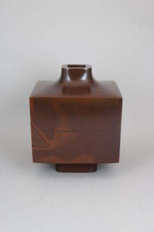 JAPANESE MID-20TH CENTURY BRONZE VASE BY HASUDA SHUGORO (1915-2010) <br><font color=red><b>SOLD</b></font>