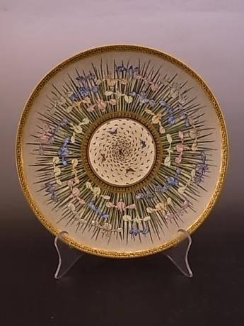 JAPANESE EARLY 20TH CENTURY SATSUMA PLATE BY KINKOZAN<br><font color=red><b>SOLD</b></font>