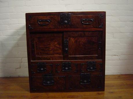 KEYAKI WOOD TANSU<br><font color=red><b>SOLD</b></font>