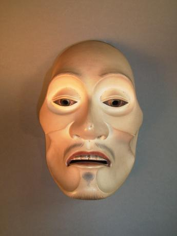 19TH CENTURY NOH-MEN - YASEOTOKO, DYING MAN MASK