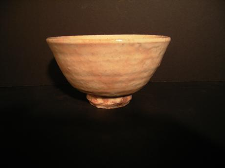 JAPANESE EARLY 20TH CENTURY HAGI WARE TEA BOWL<br><font color=red><b>SOLD</b></font>