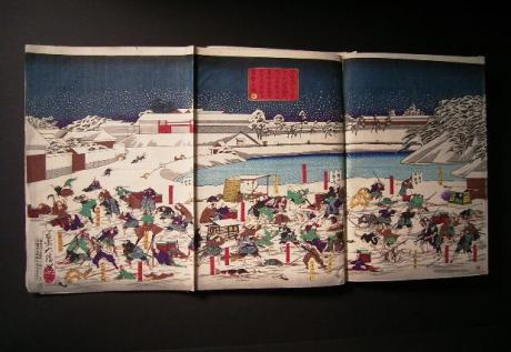 JAPANESE MEIJI PERIOD YOSHITOSHI 6 PANEL WOODBLOCK PRINT<br><font color=red><b>SOLD</b></font>