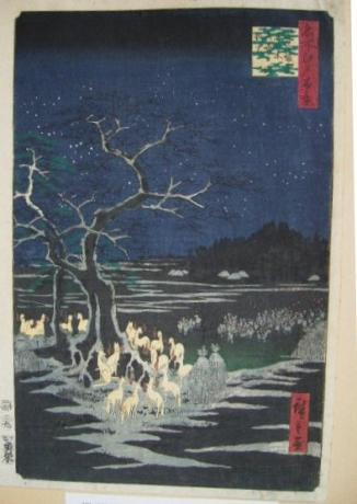 JAPANESE EDO PERIOD WOODBLOCK PRINT BY HIROSHIGE<br><font color=red><b>SOLD</b></font>