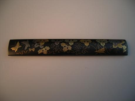 JAPANESE EDO PERIOD BRONZE KOZUKA, KNIFE HANDLE<br><font color=red><b>SOLD</b></font>