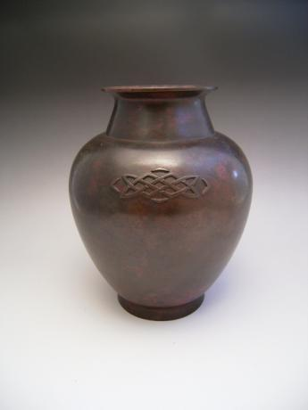 JAPANESE EARLY 20TH C. BRONZE VASE BY KATORI HOZUMA
