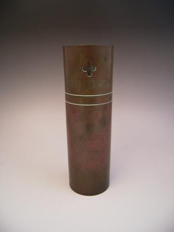 JAPANESE 20TH CENTURY BRONZE VASE BY NAGAYOSHI<br><font color=red><b>SOLD</b></font>