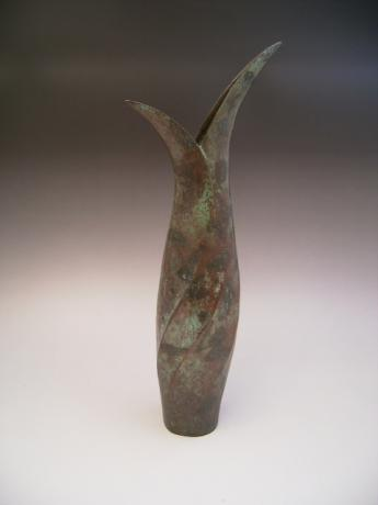 JAPANESE EARLY TO MID 20TH C. BRONZE VASE BY TSUDA EIJU<br><font color=red><b>SOLD</b></font>
