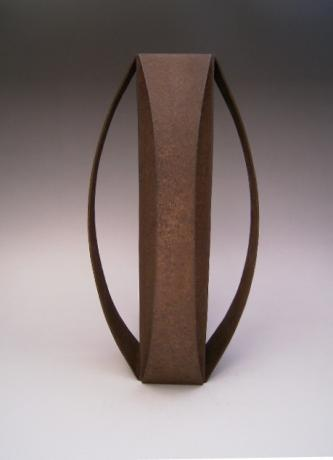 JAPANESE 20TH CENTURY IRON VASE BY TAKAHASHI SHOKO<br><font color=red><b>SOLD</b></font>