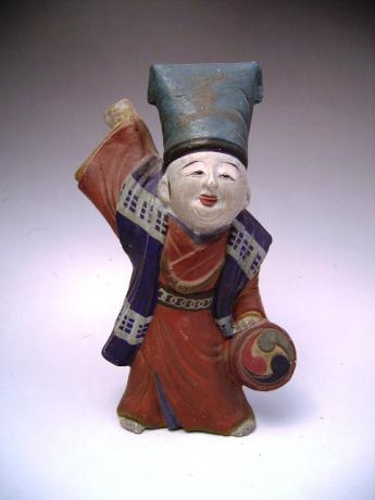 JAPANESE MEIJI PERIOD FOLKART FUSHIMI Clay DOLL<br><font color=red><b>SOLD</b></font>