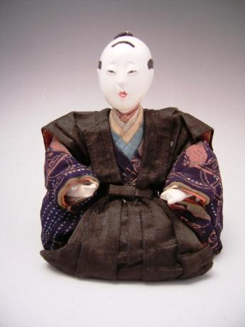 JAPANESE EDO PERIOD MUSICIAN DOLL<br><font color=red><b>SOLD</b></font>