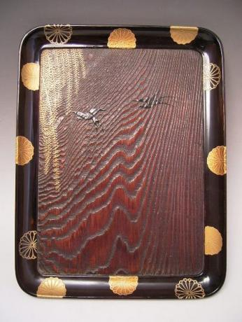 JAPANESE LATE EDO/EARLY MEIJI KOBON, INCENSE TRAY<br><font color=red><b>SOLD</b></font>