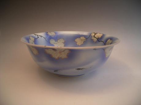 JAPANESE EARLY 20TH CENTURY FUKAGAWA LARGE BOWL<br><font color=red><b>SOLD</b></font>