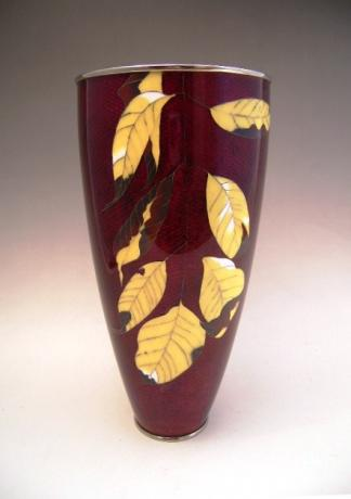 JAPANESE MID 20TH CENTURY ANDO COMPANY  CLOISONNE VASE<br><font color=red><b>SOLD</b></font>